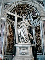 The shrine to Saint Helena in St. Peter's Basilica