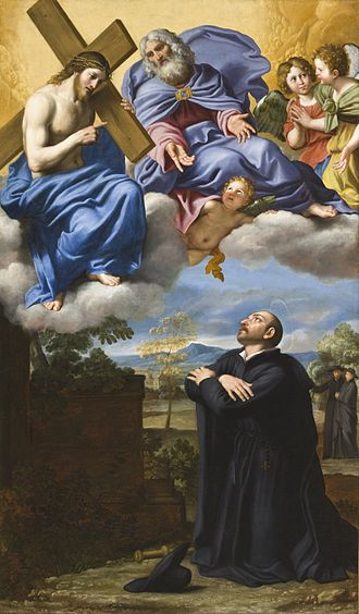 Ignatius of Loyola - Saint Ignatius of Loyola's Vision of Christ and God the Father at La Storta by Domenichino