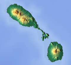 Nevis Peak is located in Saint Kitts and Nevis