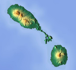 Mount Liamuiga is located in Saint Kitts and Nevis
