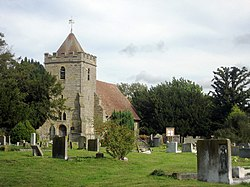 Saint Thomas à Becket Church, Church Lane, Capel, Kent - geograph.org.uk - 337737.jpg