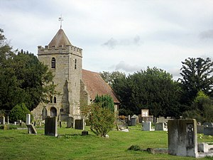 Capel, Kent - Image: Saint Thomas à Becket Church, Church Lane, Capel, Kent geograph.org.uk 337737