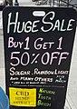 Sale at Lark Street Natural Foods (34945752615) (cropped).jpg