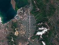 Salt Lake City from space.