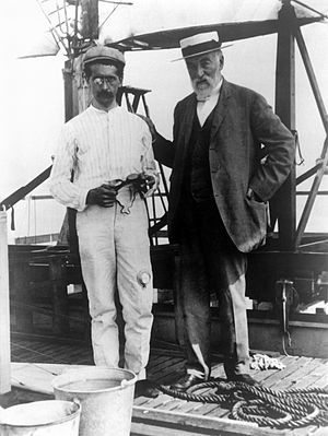 Samuel Pierpont Langley - Langley, right, with test pilot Charles Manly
