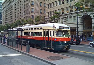 Streetcars in North America - Classic PCC car on San Francisco's F-Line (2010)