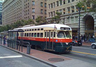 Streetcars in North America - Classic PCC car on San Francisco's F-Line (2010)