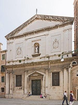 Enrico Dandolo (patriarch) - Church of San Silvestro, Venice, the base of the patriarch on Venice.