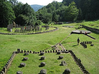 Dacian Fortresses of the Orăștie Mountains - Ruins of sanctuaries and solar disk at Sarmizegetusa Regia, Romania
