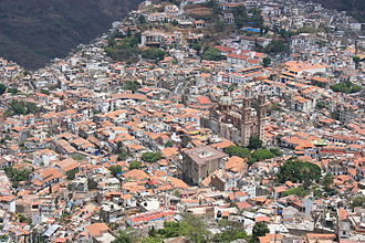 Taxco - Aerial view of the town