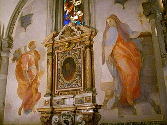 Annunciation (Pontormo) - Image: Santa felicita, annunciazione di pontormo