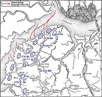 Battle of Singapore - The Japanese landings on Singapore Island
