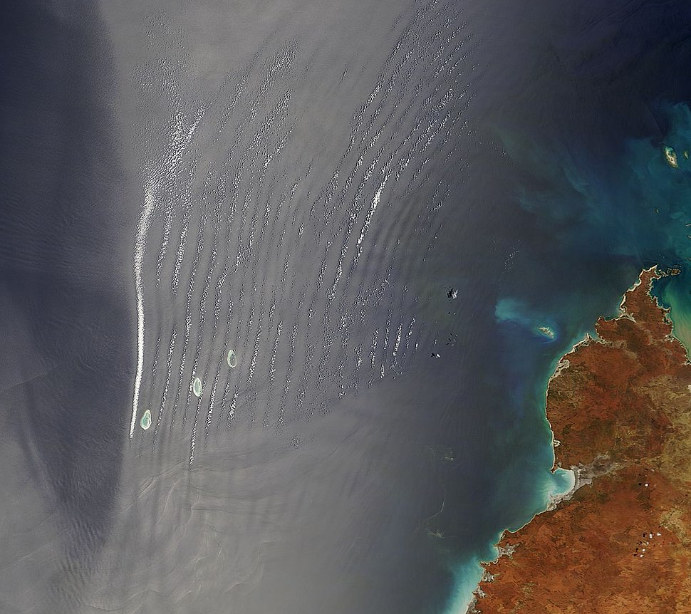 Satellite view of the Shark Bay (cropped)