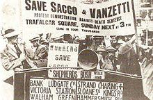 1921: Manifestazioni di protesta a Londra a favore di Sacco e Vanzetti