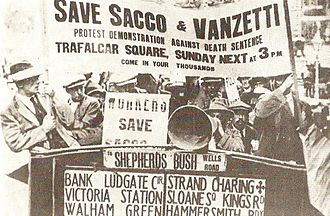 Sacco and Vanzetti - Protest for Sacco and Vanzetti in London, 1921