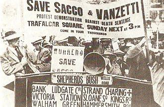 Sacco and Vanzetti - Protest for Sacco and Vanzetti in London, 1921