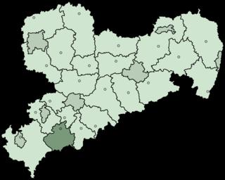Aue-Schwarzenberg District in Saxony, Germany