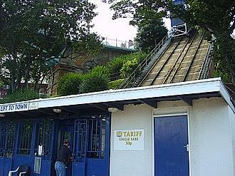Scarborough funiculars - St Nicholas Cliff Lift.