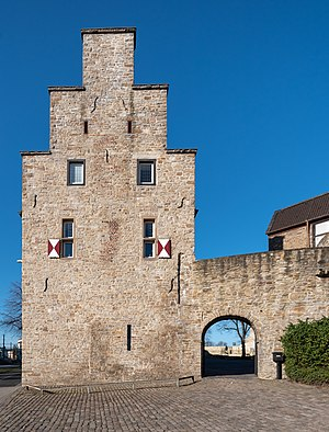 Characteristic entry area of Castle of Broich in Mülheim