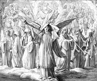 144,000 - 144,000 with Trumpets, 1860 woodcut by Julius Schnorr von Karolsfeld