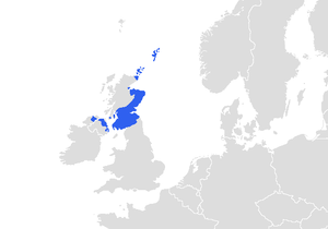 Map of the areas where the Scots language is s...