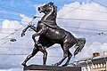 Sculptures on Anichkov Bridge 04.jpg