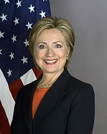 Portrait officiel d'Hillary Clinton, en 2009.
