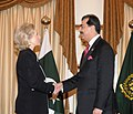Secretary Clinton Is Greeted By Pakistani Prime Minister Yousaf Raza Gilani (4808643831).jpg