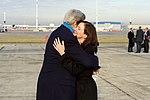 Secretary Kerry Embraces Ambassdor to Belgium Denise Bauer After Arriving at Brussels International Airport (31459164165).jpg