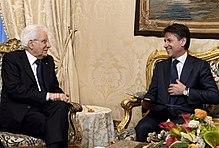 Giuseppe Conte con il Presidente della Repubblica Sergio Mattarella