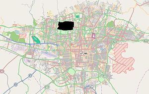 Shahrak-e Gharb - Image: Shahrak e Gharb in Tehran map new (black)