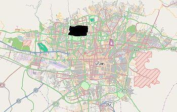 Shahrak-e Gharb in Tehran map new (black).JPG