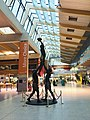 Shannon Airport Departures Statue of Irish rugby Captain Paul O'Connell.jpg