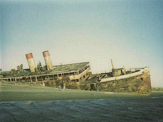 SS Catala - Catala aground in 1976