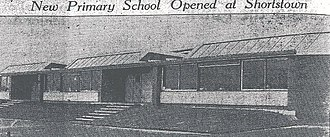 Shortstown - The first school in Shortstown, built in 1957.