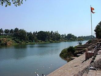 Sangli district - Image: Shreekshetra Audumbar River Bank