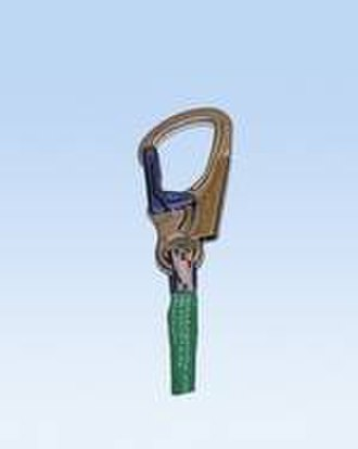Carabiner - Carabiner with multiple combined auto lock and quick release, useful in via ferrata and arborist work.