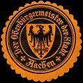 Siegelmarke Der Oberbürgermeister der Stadt - Aachen W0240555.jpg