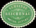 Siegelmarke Gemeinde Reichenau - Amtsh. Zittau W0220253.jpg