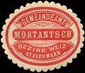 Siegelmarke Gemeindeamt Mortantsch W0342425.jpg
