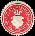 Siegelmarke Grossherzoglich Badische Bau - Direction - Karlsruhe W0226644.jpg