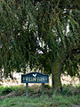 Sign at foot of willow tree at entrance to Willow Farm - geograph.org.uk - 578394.jpg