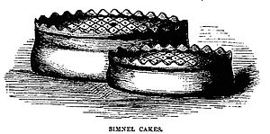Simnel cake - Simnel Cake with pastry covering and crenulated decoration, 1869