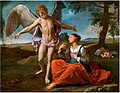 Simone Cantarini - Archangel Michael with Hagar and Ishmael in the Desert.jpg