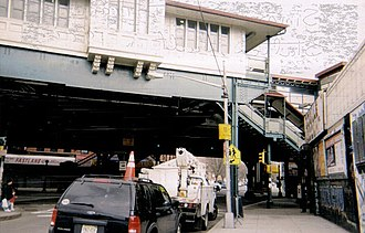 Simpson Street (IRT White Plains Road Line) - Station house as viewed from the street