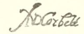 Sir Andrew Corbet signature.png