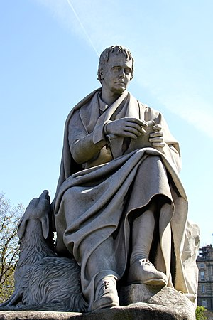 Scott Monument - The Sir Walter Scott statue designed by John Steell, located inside the Scott Monument