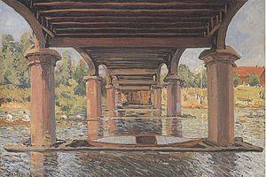 Hampton Court Bridge - Alfred Sisley's painting under the third bridge