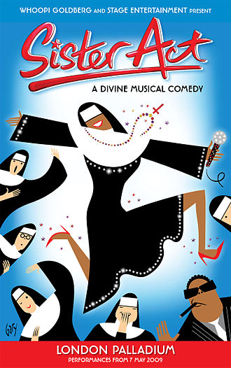 Sister Act (musical) - Poster for the West End production