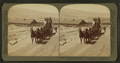 Six-horse tally-ho leaving mountain walled Gardiner for trip through Yellowstone Park, U.S.A, by Underwood & Underwood 2.png